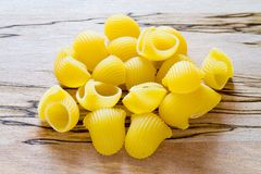 Raw shell pasta Royalty Free Stock Photography