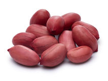 Raw shelled peanuts with clipping paths. Raw shelled peanuts. Infinite DOF, clipping paths for both nuts and its shadow Stock Photo