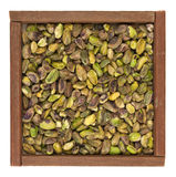 Raw shelled pistachio nuts Stock Images