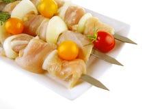 Raw shish kebab Stock Photography