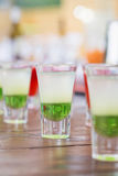 Raw of shot drinks Royalty Free Stock Photos