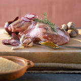 Raw shoulder of lamb Royalty Free Stock Photography