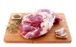 Raw shoulder of lamb Stock Image