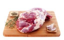 Raw shoulder of lamb Stock Image