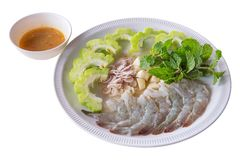 Raw Shrimp in Fish Sauce Royalty Free Stock Photography