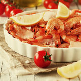 Raw shrimp Royalty Free Stock Photo