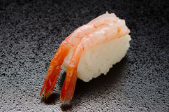 Raw shrimp sushi Stock Image