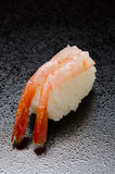 Raw shrimp sushi Royalty Free Stock Image
