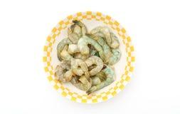 Raw shrimp on white background . Stock Photography