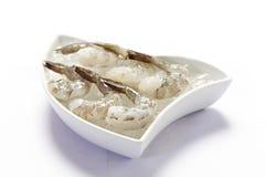 Raw shrimp Stock Photography