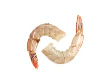 Raw shrimps close up. Stock Photography