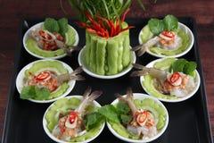 Raw shrimps Thai food Stock Images