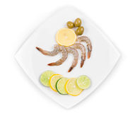 Raw shrimps Royalty Free Stock Photos