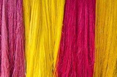 Raw silk thread for background Stock Photo