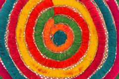 Raw silk thread for background Royalty Free Stock Photo
