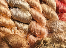Raw silk thread. Stock Photos