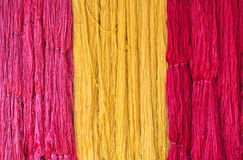 Raw silk thread Royalty Free Stock Photography