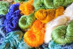 Raw silk thread Royalty Free Stock Image