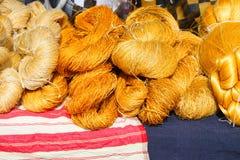 Raw silk thread Royalty Free Stock Photography