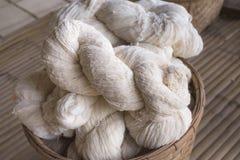 Raw silk thread Stock Photos