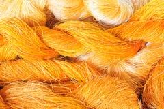 Raw silk thread Stock Photo