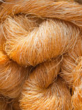 Raw silk yarn for weaving Royalty Free Stock Image
