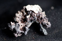 Raw silver ore. Unwrought silver ore, unrefined metal in a lump Royalty Free Stock Photo