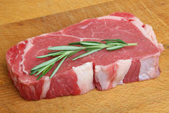 Raw Sirloin Beef Steak Stock Photos