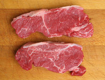 Raw Sirloin Beef Steaks Royalty Free Stock Photo