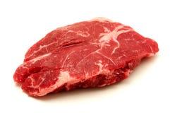 Raw sirloin steak