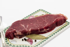 Raw sirloin steak. Royalty Free Stock Images