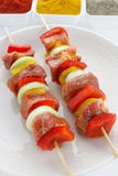 Raw skewers Stock Image
