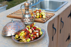 Raw Skewers Royalty Free Stock Images