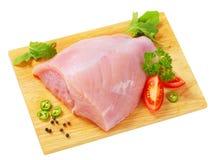 Raw skinless turkey breast Stock Image