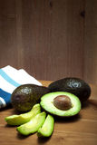 Raw sliced avocados Royalty Free Stock Photography