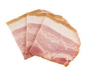 Raw  sliced bacon Stock Images