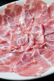 Raw Sliced beef Stock Images