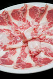 Raw Sliced beef Royalty Free Stock Image