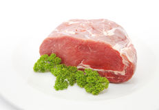 Raw sliced of beef meat or rib eye steak Stock Photos