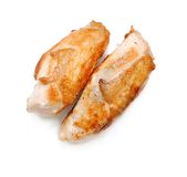 Raw sliced chicken Royalty Free Stock Photos