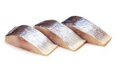 Raw sliced mackerel isolated on white background Stock Photos