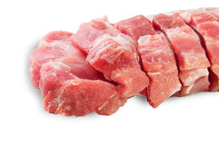 Raw Sliced Pork Meat Closeup Royalty Free Stock Photography