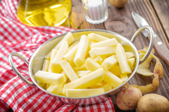 Raw sliced potato Stock Image