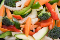 Raw Sliced Vegetables Stock Images