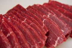 Raw slices of meat Stock Images