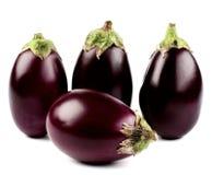 Raw Small Eggplants Royalty Free Stock Photos