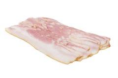 Raw Smoked Bacon Slices isolate on white background Royalty Free Stock Image