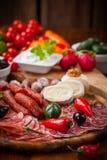 Raw snack with antipasti Royalty Free Stock Photos