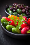 Raw snack vegetable Royalty Free Stock Photos