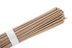 Raw soba noodles stock images